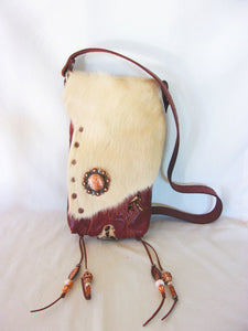 Hair-on-Hide Cowboy Boot Purse HH28