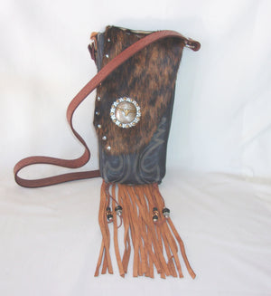 Hair on Hide Bag HH30 - Cowboy Boot Purses by Chris Thompson for Distinctive Western Fashion