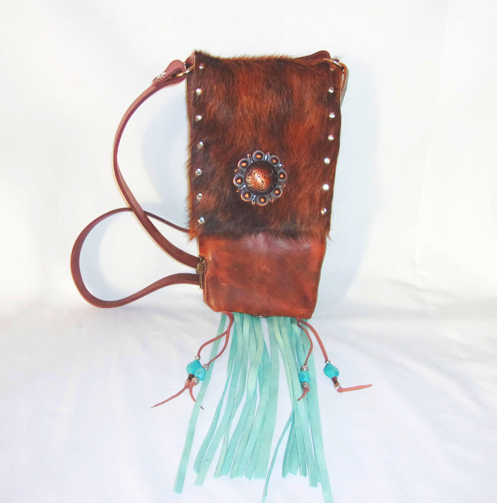 Hair on Hide Bag - Cowboy Boot Purse - Cowhide Purse - Handcrafted Crossbody Purse HH33