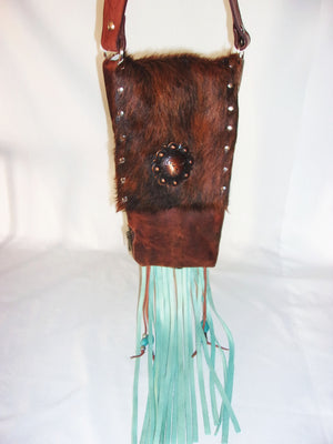Hair-on-Hide Cowboy Boot Purse HH33
