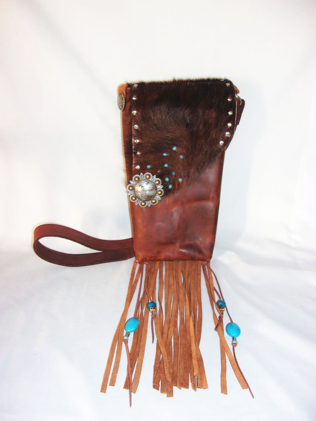 Hair on Hide Bag - Cowboy Boot Purse - Cowhide Purse - Handcrafted Crossbody Purse HH35