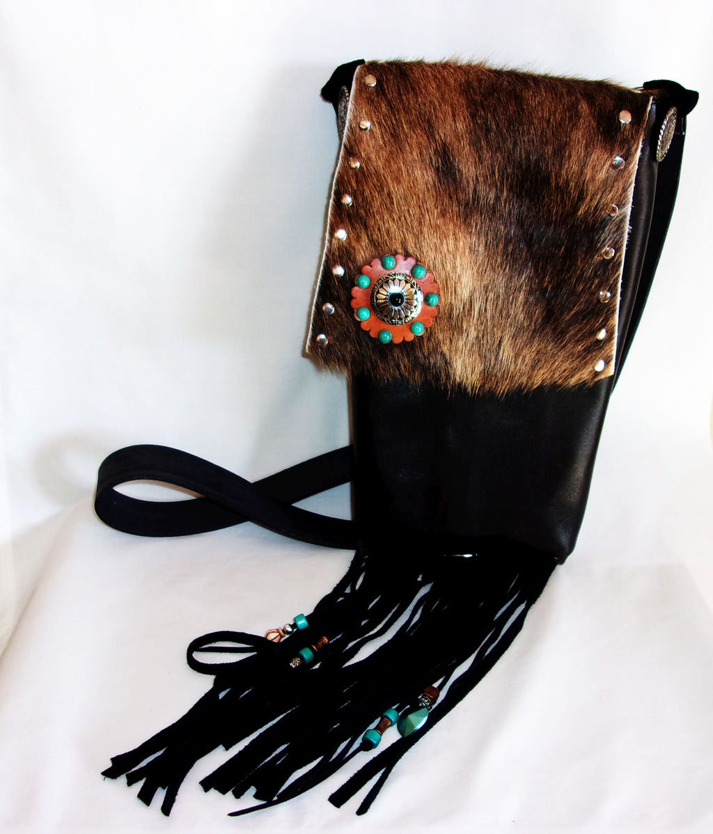 Hair on Hide Bag - Cowboy Boot Purse - Cowhide Purse - Handcrafted Crossbody Purse HH40