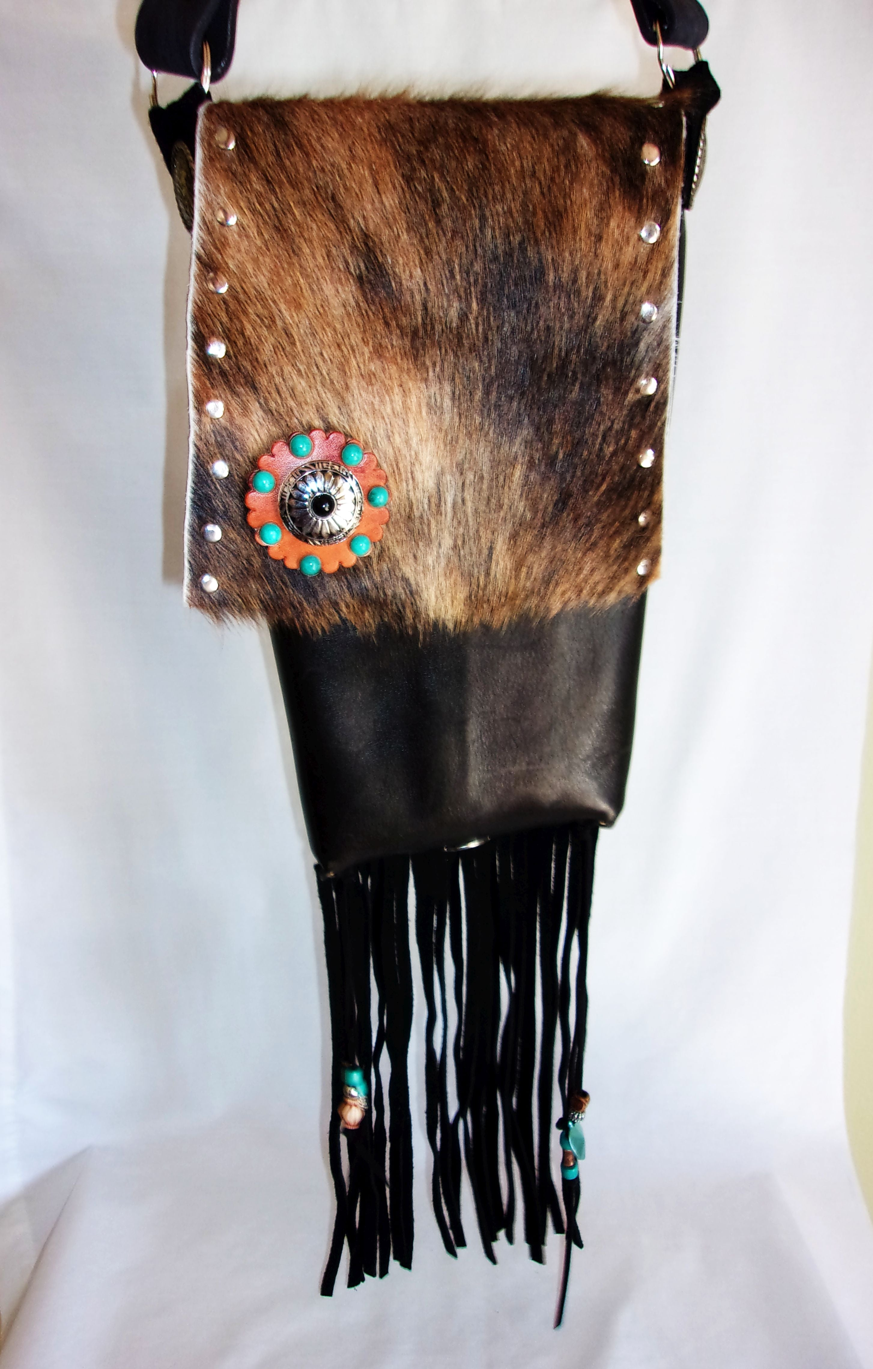 Hair on Hide Bag HH40 - Cowboy Boot Purses by Chris Thompson for Distinctive Western Fashion