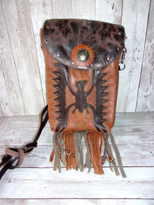 Phoenix Rising Cross-Body Leather Hipster Cowboy Boot Purse HP372 - Distinctive Western Handbags, Purses and Totes