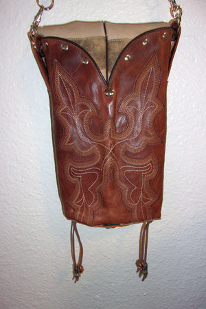 Longhorn Cross-Body Leather Hipster HP569 - Cowboy Boot Purses by Chris Thompson for Distinctive Western Fashion