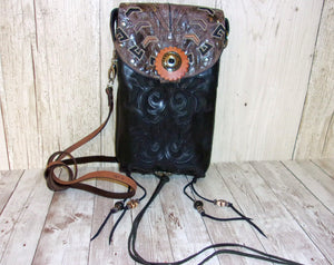 Western Crossbody Purse – Cowboy Boot Purse – Handcrafted Purse – Western Hipster HP705