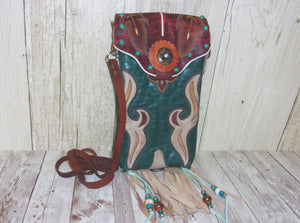 Western Crossbody Purse – Cowboy Boot Purse – Handcrafted Purse – Western Hipster HP711