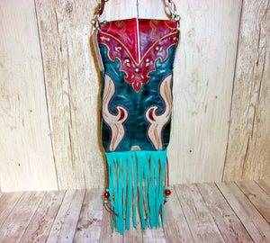 Hipster Cross-Body Cowboy Boot Purse HP714