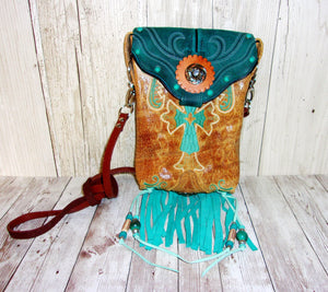 Hipster Cross-Body Cowboy Boot Purse HP718