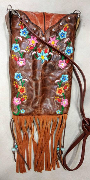 Western Crossbody Purse – Cowboy Boot Purse – Fringe Purse – Leather Hipstere HP746 cowboy boot purses, western fringe purse, handmade leather purses, boot purse, handmade western purse, custom leather handbags Chris Thompson Bags
