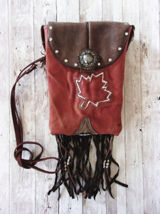 Western Crossbody Purse – Cowboy Boot Purse – Fringe Purse – Leather Hipster HP769
