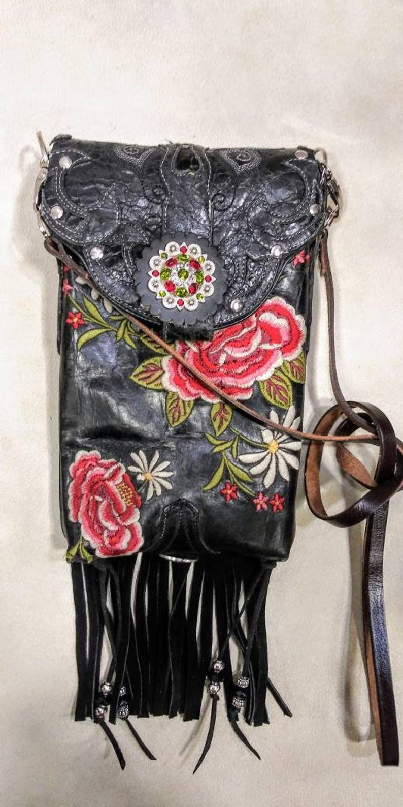 Western Crossbody Purse – Cowboy Boot Purse – Fringe Purse – Leather Hipster HP752 cowboy boot purses, western fringe purse, handmade leather purses, boot purse, handmade western purse, custom leather handbags Chris Thompson Bags
