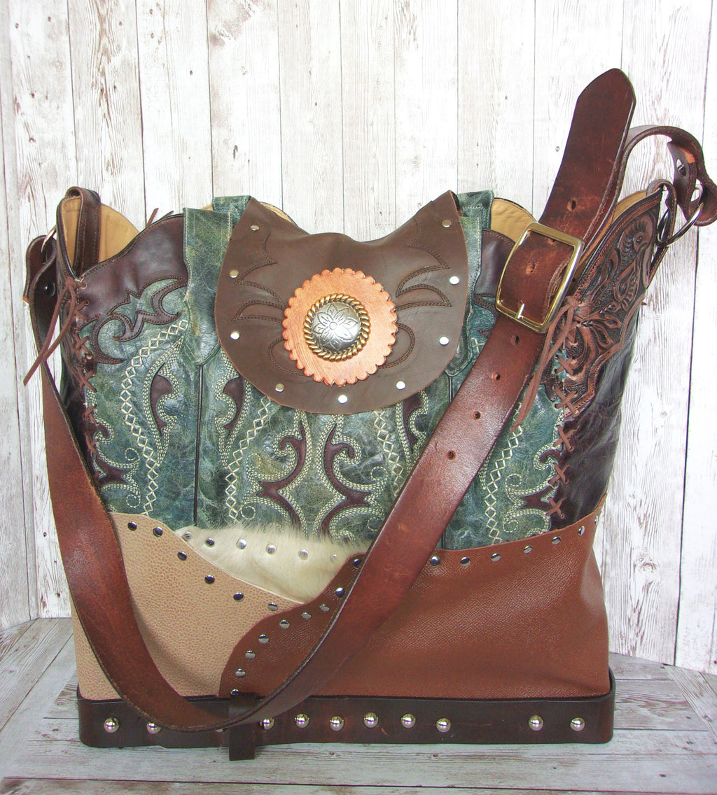 Large Montana Leather Tote LT44 - Cowboy Boot Purses by Chris Thompson for Distinctive Western Fashion