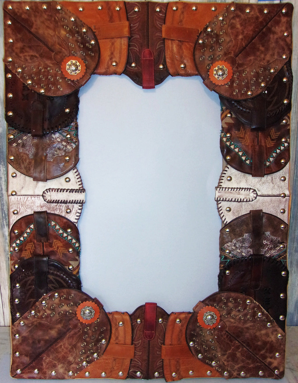 "24""x32"" Wall Mirror Wrapped in Boots MR01 - Distinctive Western Handbags, Purses and Totes"