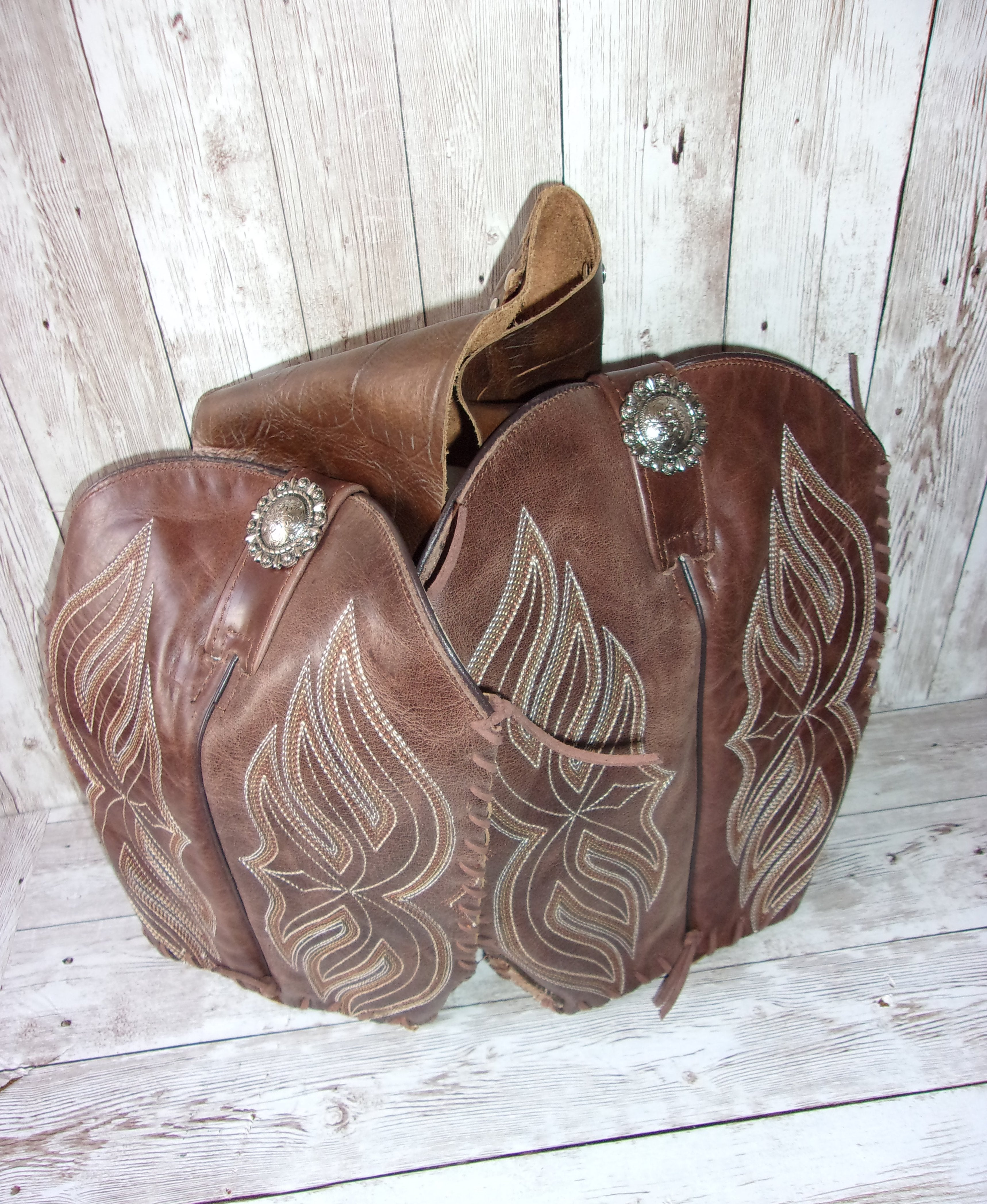 Leather Doggy Saddle Bag pup05 - Distinctive Western Handbags, Purses and Totes