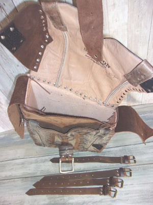 Handcrafted Swing Arm Bag -  Western Motorcycle Bag - Unique Moto Bags - Western Solo Bag SA02