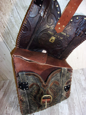 Handcrafted Swing Arm Bag -  Western Motorcycle Bag - Unique Moto Bags - Western Solo Bag SA14