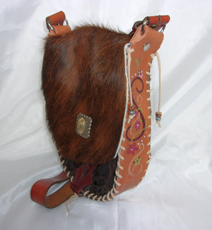 Hair-on-Hide Hand-Painted Flap Top Bag SB01 - Cowboy Boot Purses by Chris Thompson for Distinctive Western Fashion