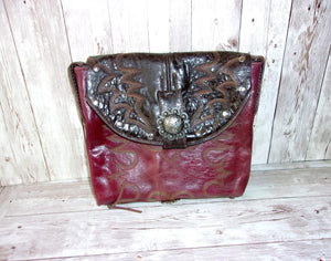 Saddle Horn Bag - Handcrafted Saddle Horn Purse - Cowboy Boot Purse SH01 cowboy boot purses, western fringe purse, handmade leather purses, boot purse, handmade western purse, custom leather handbags Chris Thompson Bags