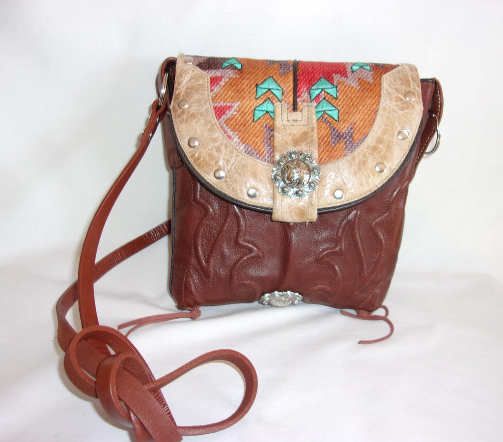 Small Western Purse - Cowboy Boot Purse - Small Western Bag - Sporran Kilt Bag sm71 cowboy boot purses, western fringe purse, handmade leather purses, boot purse, handmade western purse, custom leather handbags Chris Thompson Bags