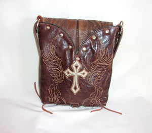 Small Western Purse - Cowboy Boot Purse - Small Western Bag - Sporran Kilt Bag sm79 cowboy boot purses, western fringe purse, handmade leather purses, boot purse, handmade western purse, custom leather handbags Chris Thompson Bags
