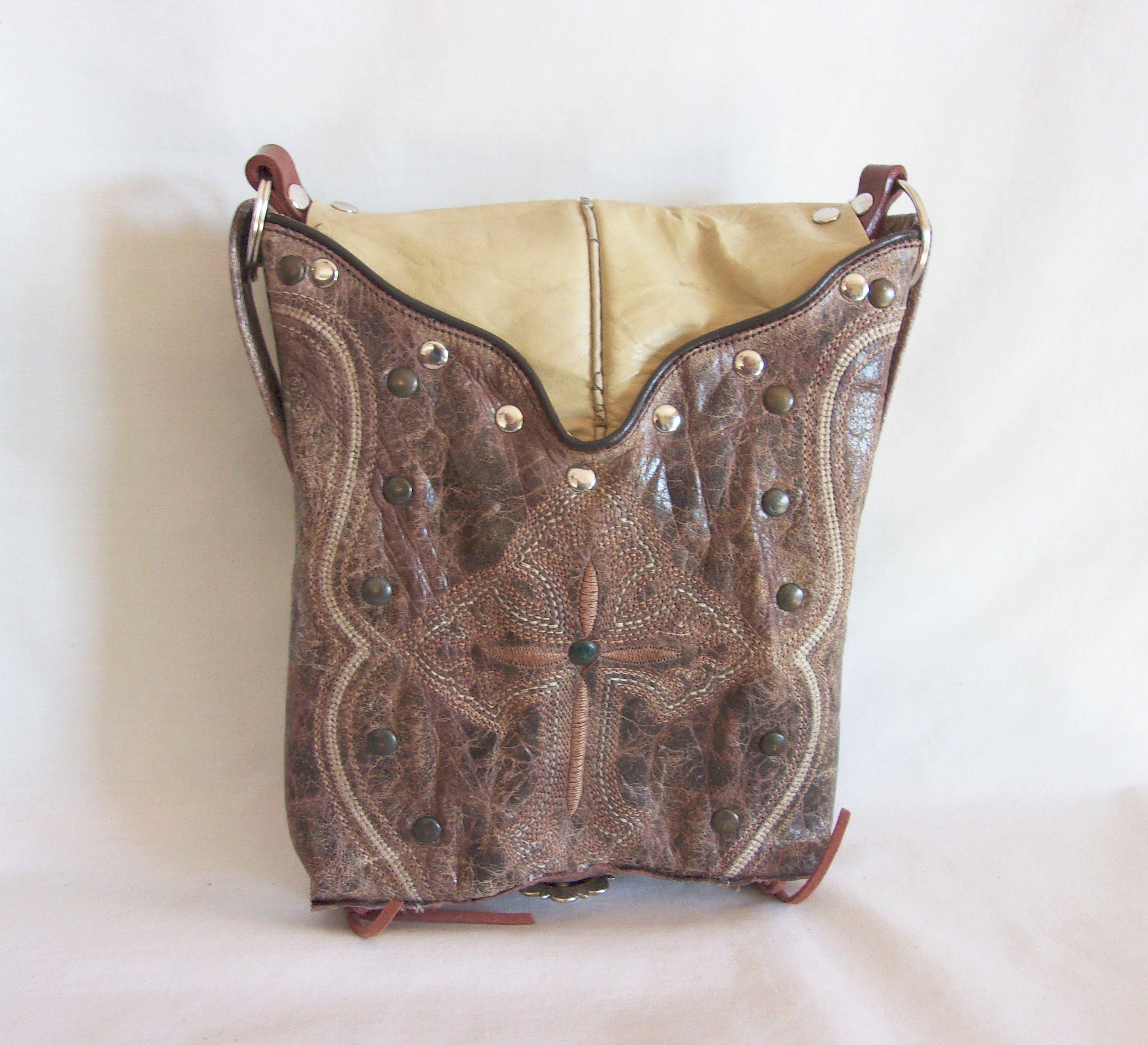 Small Western Purse - Cowboy Boot Purse - Small Western Bag - Sporran Kilt Bag sm80 cowboy boot purses, western fringe purse, handmade leather purses, boot purse, handmade western purse, custom leather handbags Chris Thompson Bags