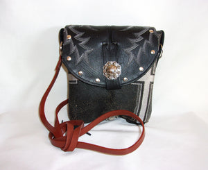Small Cowboy Boot Cross-Body Purse sm85 - handcrafted handbags - cowboy boot purses - western purses - western handbags - western conceal carry purses - unique swing arm bags - Chris Thompson Bags
