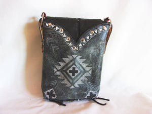 Small Cowboy Boot Cross-Body Purse sm90 - handcrafted handbags - cowboy boot purses - western purses - western handbags - western conceal carry purses - unique swing arm bags - Chris Thompson Bags