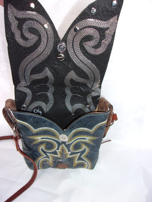 Small Cowboy Boot Cross-Body Purse sw06 - Cowboy Boot Purses by Chris Thompson for Distinctive Western Fashion