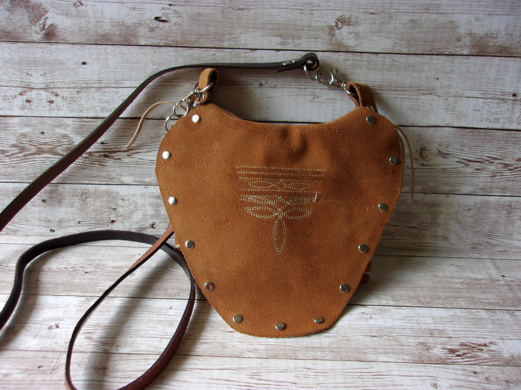 Small Cowboy Boot Purse - Western Crossbody Bag - Handcrafted Hipster SB06 cowboy boot purses, western fringe purse, handmade leather purses, boot purse, handmade western purse, custom leather handbags Chris Thompson Bags