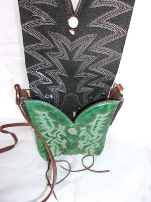 Small Cowboy Boot Cross-Body Purse sw07 - Cowboy Boot Purses by Chris Thompson for Distinctive Western Fashion