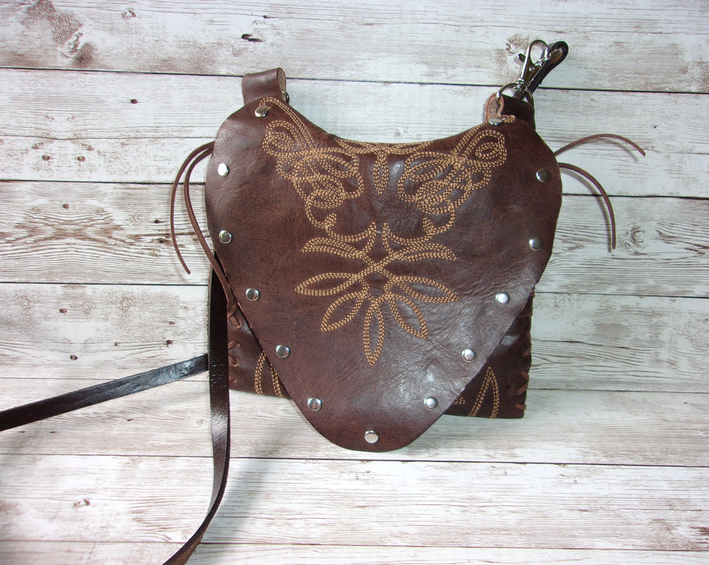 Small Cowboy Boot Purse - Western Crossbody Bag - Handcrafted Hipster SB07 cowboy boot purses, western fringe purse, handmade leather purses, boot purse, handmade western purse, custom leather handbags Chris Thompson Bags