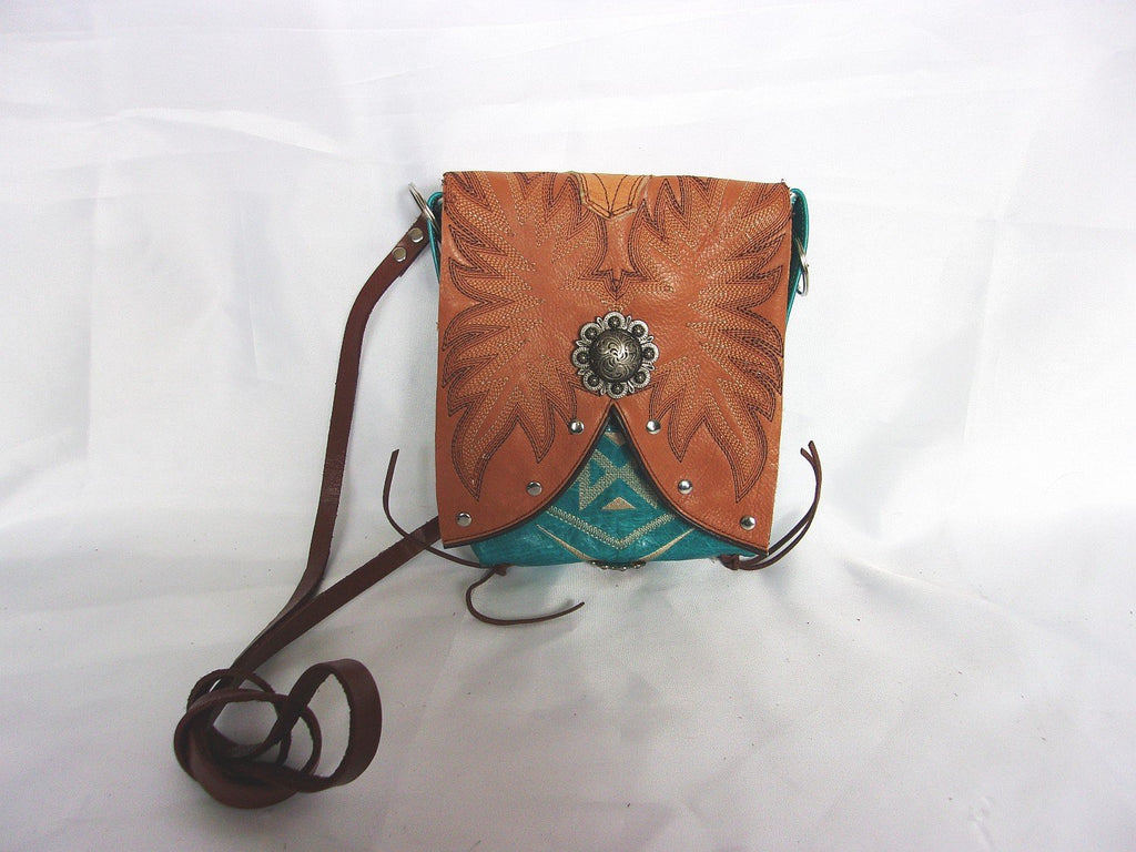 Small Cowboy Boot Cross-Body Purse sw12 - Cowboy Boot Purses by Chris Thompson for Distinctive Western Fashion