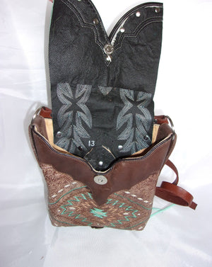 Small Cowboy Boot Cross-Body Purse sw13 - Cowboy Boot Purses by Chris Thompson for Distinctive Western Fashion