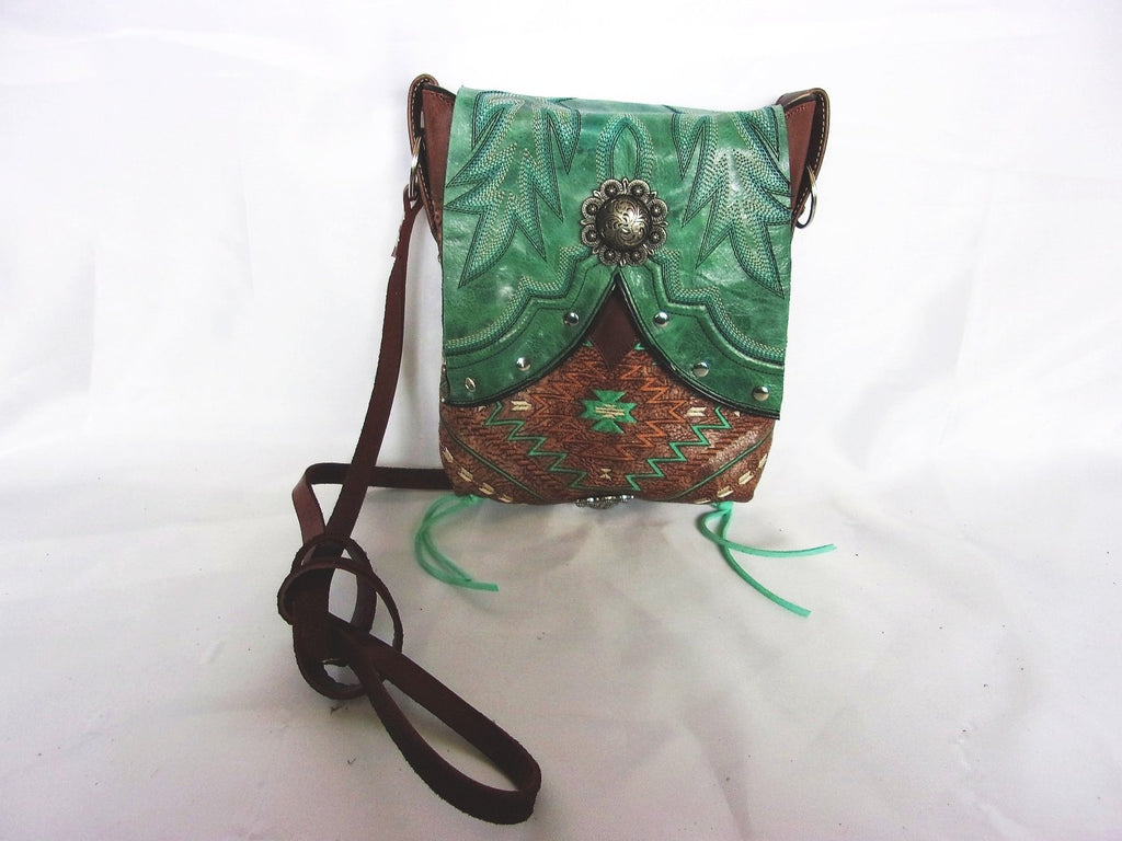 Small Western Purse - Cowboy Boot Purse - Handcrafted Sporran Kilt Bag - Small Western Bag - Small Cowboy Boot Purse sw13 cowboy boot purses, western fringe purse, handmade leather purses, boot purse, handmade western purse, custom leather handbags Chris Thompson Bags