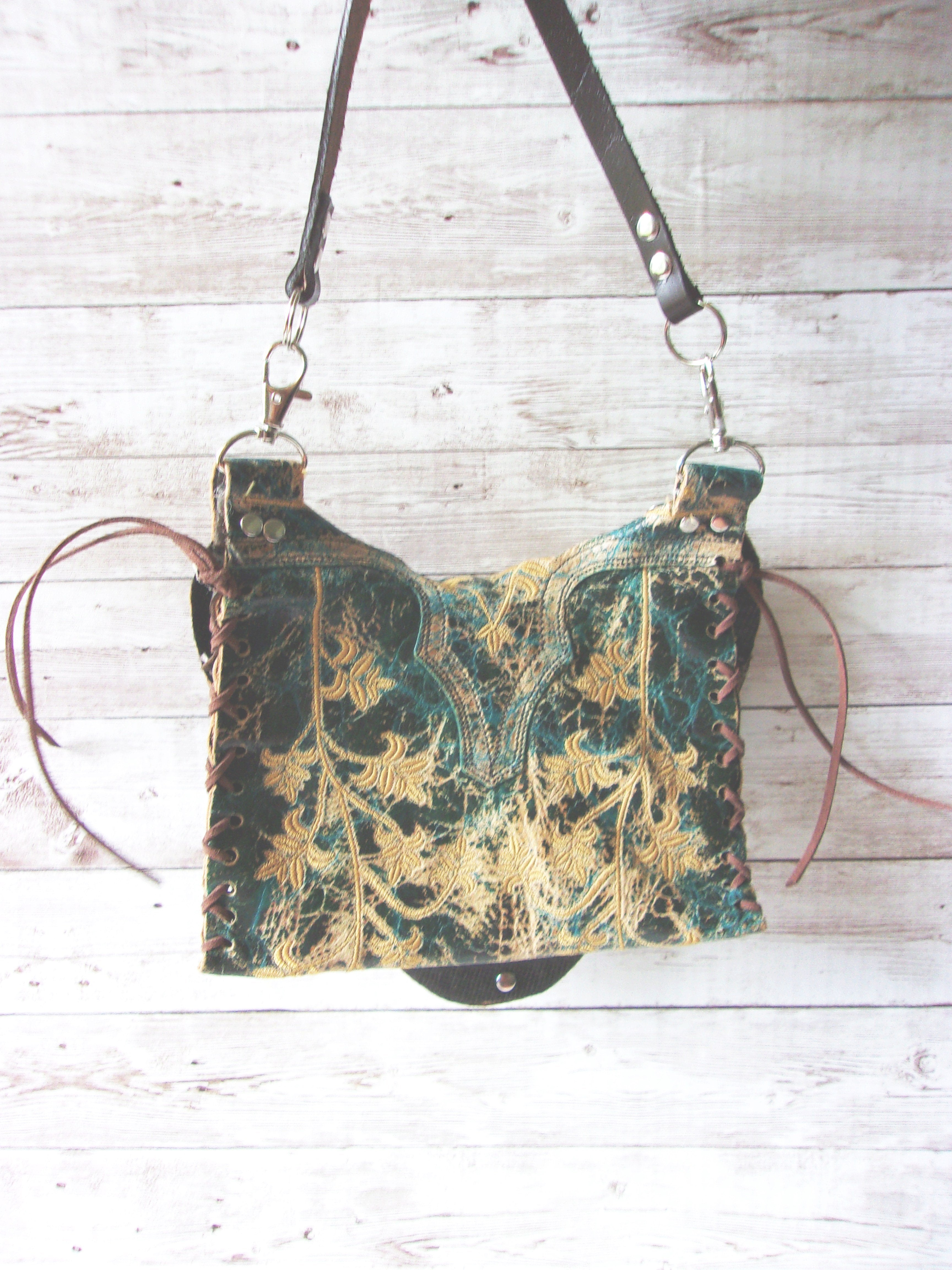 Small Cowboy Boot Purse - Western Crossbody Bag - Handcrafted Hipster SB13 cowboy boot purses, western fringe purse, handmade leather purses, boot purse, handmade western purse, custom leather handbags Chris Thompson Bags