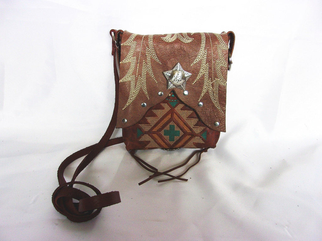 Small Cowboy Boot Cross-Body Purse sw15 - Cowboy Boot Purses by Chris Thompson for Distinctive Western Fashion