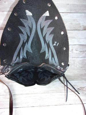 Small Cowboy Boot Purse - Western Crossbody Bag - Handcrafted Hipster SB21 cowboy boot purses, western fringe purse, handmade leather purses, boot purse, handmade western purse, custom leather handbags Chris Thompson Bags