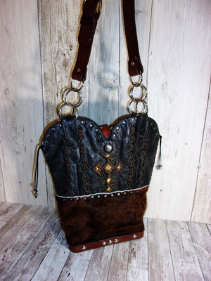 Santa Fe Western Shoulder Bag TS209 - Distinctive Western Handbags, Purses and Totes