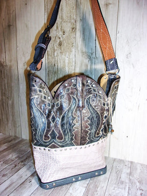 Handmade Leather Purse - Cowboy Boot Purse - Western Leather Purse TS261