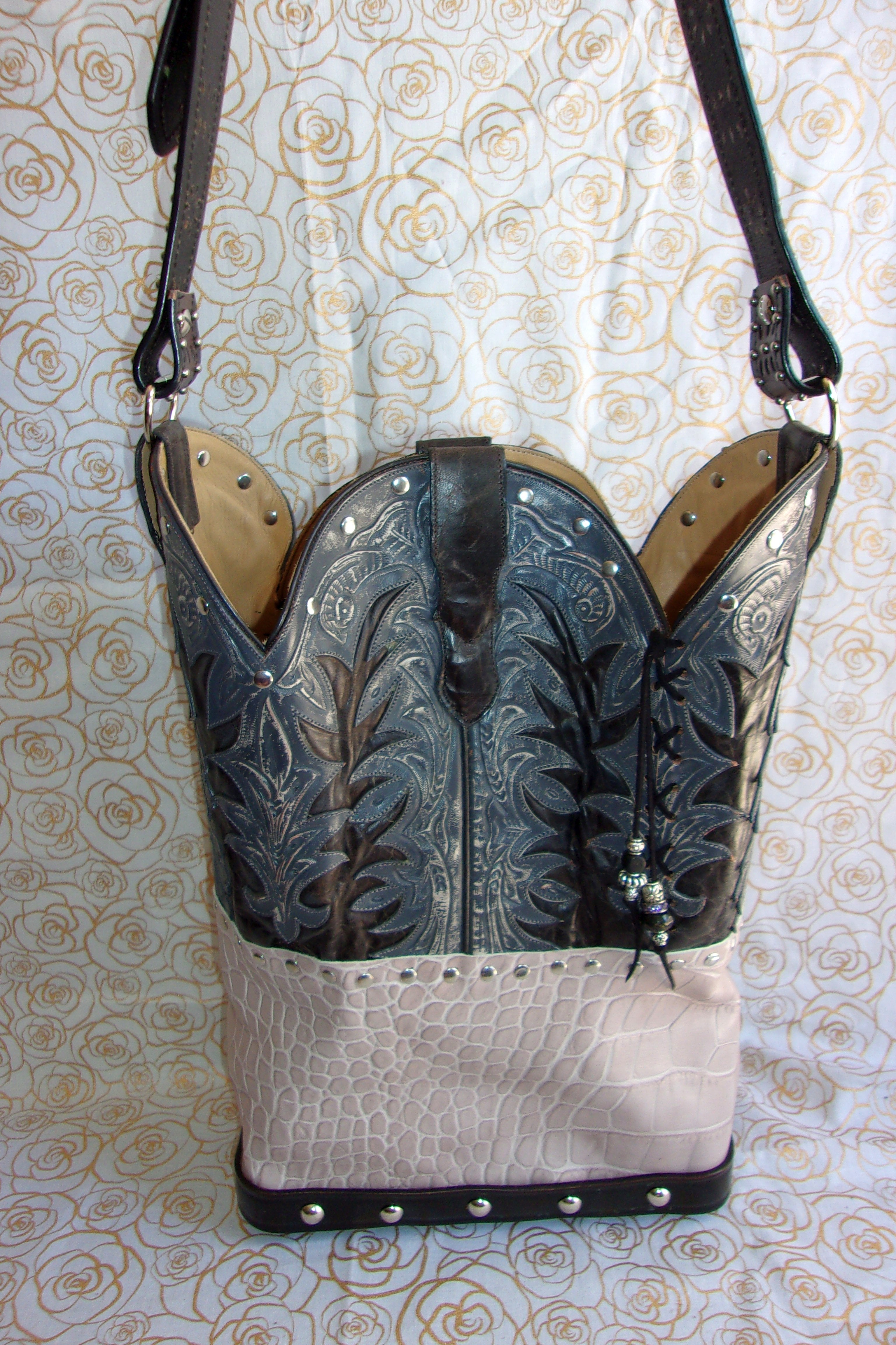 Hair on Hide Heart Shoulder Bag TS266 - Unique Leather Handbags and Totes by Chris Thompson