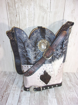 Cowboy Boot Purse Shoulder Bag TS266