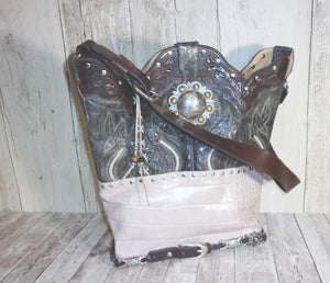 Handmade Leather Purse - Cowboy Boot Purse - Western Leather Purse TS272