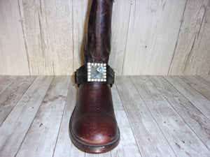 Boot Decorations - Boot Wraps - Boot Bling - Boot Jewelry (Single) wr37 cowboy boot purses and handcrafted western purses and handbags Chris Thompson Bags