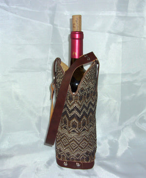 WT447 Cowboy Boot Wine Tote - Cowboy Boot Purses by Chris Thompson for Distinctive Western Fashion