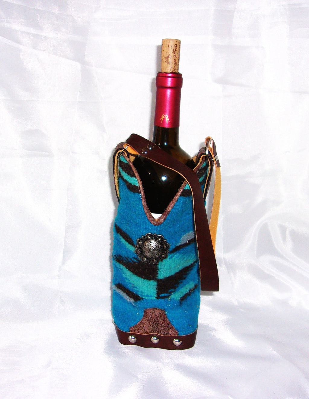 WT472 Cowboy Boot Wine Tote - Cowboy Boot Purses by Chris Thompson for Distinctive Western Fashion