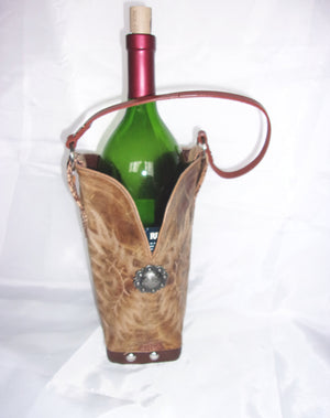 WT498 Cowboy Boot Leather Wine Tote - Cowboy Boot Purses by Chris Thompson for Distinctive Western Fashion