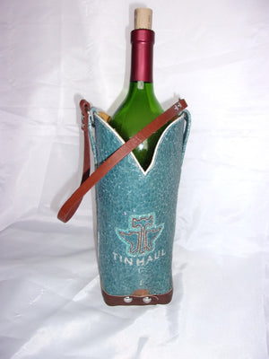 WT511 Cowboy Boot Leather Wine Tote - Cowboy Boot Purses by Chris Thompson for Distinctive Western Fashion
