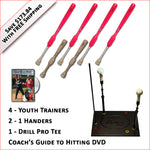 4 Softball Trainers, 2 - 1 Handers, Pro Drill Tee & Coach's Guide to Hitting DVD