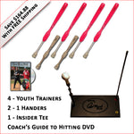 4 Softball Trainers, 2 - 1 Handers, Insider Tee & Coach's Guide to Hitting DVD